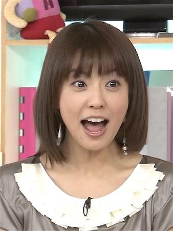 びっくり顔の小林麻耶